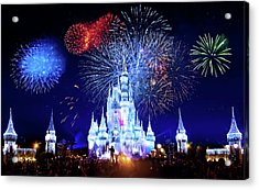 Walt Disney World Fireworks  Acrylic Print