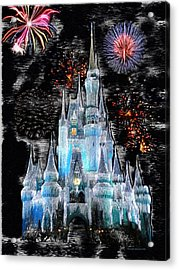 Walt Disney World Frosty Holiday Castle Mp Acrylic Print