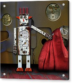 Walter Has A Surprise Acrylic Print by Joan Ladendorf