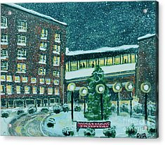 Waltham Hospital On Hope Ave Acrylic Print by Rita Brown