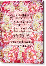 Waltz Of The Flowers Sweet Roses Acrylic Print by Irina Sztukowski