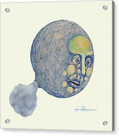 Waning Moon Acrylic Print by Jim Rehlin