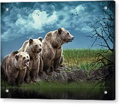 Wanna Go For A Moonlight Swim Acrylic Print by Diane Schuster