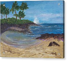 Acrylic Print featuring the painting Wanna Go by Margaret Bobb