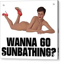 Wanna Go Sunbathing? Acrylic Print