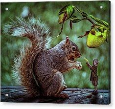 Wanna Play Acrylic Print by Solomon Barroa