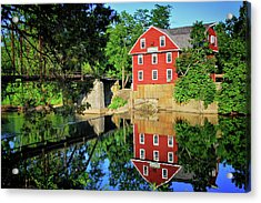 Acrylic Print featuring the photograph War Eagle Mill And Bridge - Arkansas by Gregory Ballos