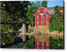 War Eagle Mill Perfect Reflection - Northwest Arkansas Acrylic Print by Gregory Ballos