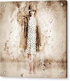War Effort Pin-up Poster Girl Acrylic Print