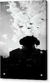 War Helicopters Over The Imperial Fora Acrylic Print