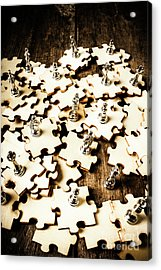 War In A Puzzle Plan Acrylic Print
