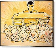War Innocence Acrylic Print by Paulo Zerbato