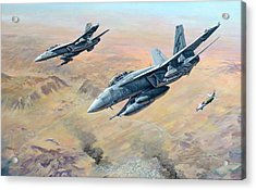 War On Terror Acrylic Print by Colin Parker