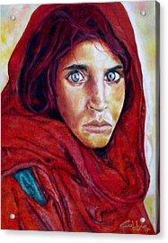 War Orphan Acrylic Print by G Cuffia
