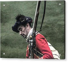 War Weary French And Indian War Portrait Acrylic Print by Randy Steele
