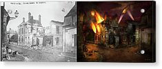 War - Wwi -  Not Fit For Man Or Beast 1910 - Side By Side Acrylic Print by Mike Savad