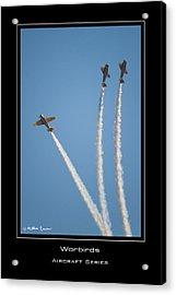 Warbirds Acrylic Print by Mathias Rousseau