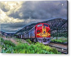 Warbonnet F7 Santa Fe Locomotive Acrylic Print