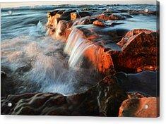 Wards Beach Waterfall-2 Acrylic Print