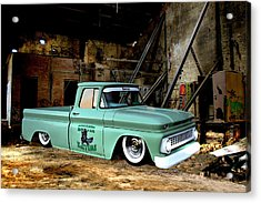 Warehouse Pickup Acrylic Print by Steven Agius