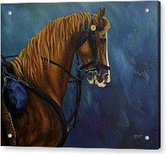 Warhorse-us Cavalry Acrylic Print by Joann Renner