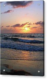 Warm Atlantic Sunrise Acrylic Print