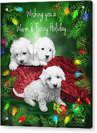 Warm Fuzzy Holiday Acrylic Print