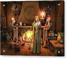 Warm Heart Warm Hearth Acrylic Print