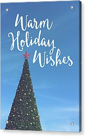 Warm Holiday Wishes- Art By Linda Woods Acrylic Print