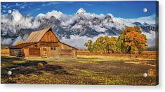 Warm Morning Light In The Tetons Acrylic Print