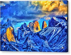 Warm Mpuntain Tops Acrylic Print