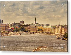 Warm Stockholm View Acrylic Print