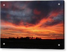 Warm Sunset Glow Acrylic Print by Brook Burling