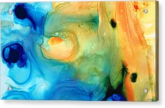Warm Tides - Abstract Art By Sharon Cummings Acrylic Print