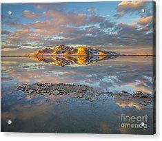Warm Winter Sunset Acrylic Print