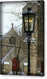 Warm Winter's Light Acrylic Print by Debra Straub