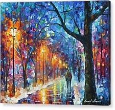 Warmed By Love Acrylic Print by Leonid Afremov