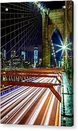 Warp Speed Out Of Manhattan Acrylic Print