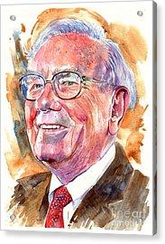 Warren Buffett Painting Acrylic Print