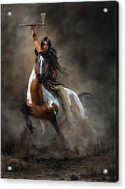 Warrior Acrylic Print by Daniel Eskridge