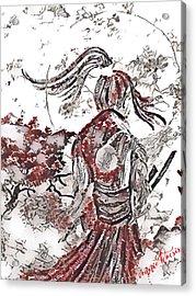 Warrior Moon Anime Acrylic Print