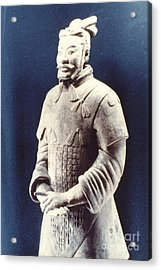 Acrylic Print featuring the photograph Warrior Of The Terracotta Army by Heiko Koehrer-Wagner