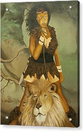 Warrior Princess Acrylic Print by Angelo Thomas