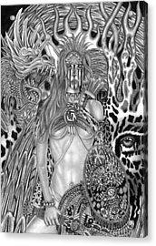 Warrior Princess Acrylic Print by Michael Reymann