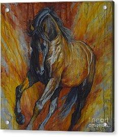 Warrior Acrylic Print by Silvana Gabudean