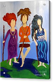 Warrior Woman Sisterhood Acrylic Print by Jean Fry