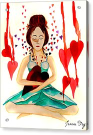 Warrior Woman - Tend To Your Heart Acrylic Print