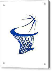 Warriors Basketball Hoop Acrylic Print by Joe Hamilton