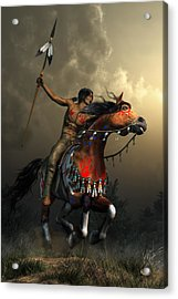 Warriors Of The Plains Acrylic Print by Daniel Eskridge