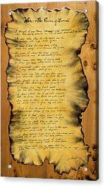 War's Poem Acrylic Print